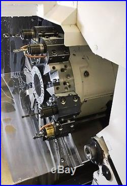 2015 Okuma Genos L250 Cnc Lathe, Parts Catcher, Tool Setter, Two Chucks