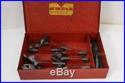 7pc Mint Armstrong Ace Tool Set # 6A 6 Lathe Cutter Set ORIGINAL BOX Atlas 618