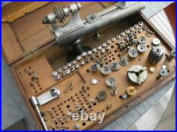 8 mm Vintage Boley Co watch makers lathe set-quality Made In Germany