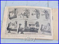 ANTIQUE CLEMENT COMBINED LATHE ATTACHMENT FOR WATCHMAKER'S LATHE With INSTRUCTIONS