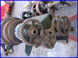 Metal Lathe For Sale >> Antique Metal Lathe Vintage Machine Tool Barnes Logan Atlas Motor Clutch Gears