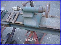 Antique Metal Lathe Vintage Machine Tool Barnes Logan Atlas Motor Clutch Gears
