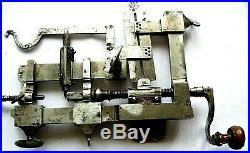 ANTIQUE WHEEL or CUTTING tailler fusée MACHINE WATCHMAKER TOPPING TOOL LATHE 18