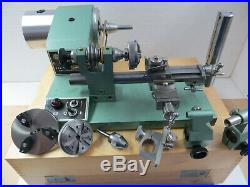 Andrä & Zwingenberg 8 mm watchmakers lathe with accessories in wooden box