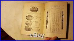 Antique 1891 Metal Working Machine Catalog Lathe Drill Press Barnes Rockford Ill