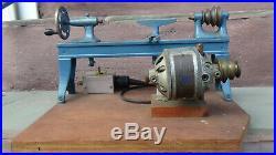 Antique 1917 Peter Austin Bench Lathe W / Hamilton Beach Sewing Machine Motor