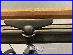 Antique TREADLE Wood LATHE by Millers Falls Co in Massachusetts Cast Iron
