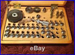 Antiqùe Watchmaker Lathe Accessories & Attachment 6mm Collets In Original Box