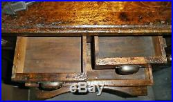 Antique Watchmakers / Jewelers Workbench With Lathe