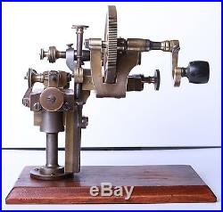 Antique Watchmakers Rounding Up Topping Tool Lathe 19. C