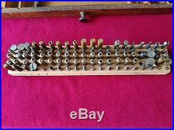 Antique watchmaker lot tool box tools jacot pivot lathe tour à pivoter horloger