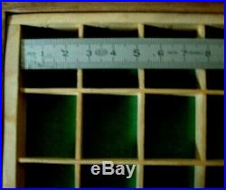 Boite layette horloger casier meuble métier CARPANO WATCHMAKER ROUNDING LATHE