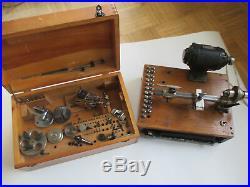 Boley 8mm Uhrmacher Drehbank mit viel Zubehör watchmaker lathe