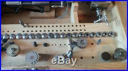 Boley Drehbank. Watchmaker Lathe. TOP ZUSTAND. Original Box. 8mm. Viele Zubehör