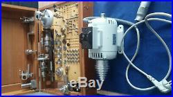 Boley Drehbank mit Groschopp Motor. Watchmaker Lathe. TOP ZUSTAND. Original Box. 8mm