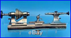 Boley Watchmakers 8mm Lathe Headstock Tailstock Germany 3614 Tool Rest Collet