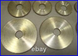 Change Gear Set for Watchmakers Lathe Screw Cutting Attachment, long drive gear