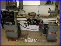 Clausing Metosa Engine Lathe C1340s withDRO, 3 & 4jaw chuck, camlock tool post