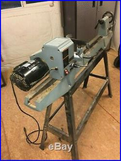 DELTA Variable Speed Wood Lathe with Floor Stand and Tools Model # 46-701