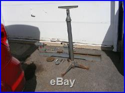 Delta Homecraft Milwaukee Wood Lathe With Cast Iron Stand Face Plates Tool Rest