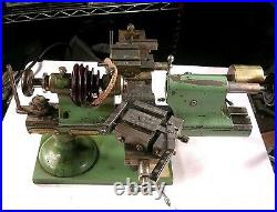 Derbyshire Watch Lathe 12 Inch Bed Tooling Very Nice