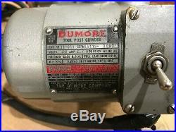 Dumore Tool Post Grinder 11 011 Case & Accessories Lathe Bits Wheels Tools