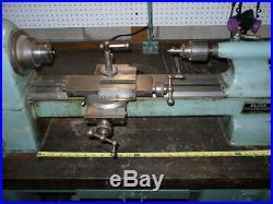 Elgin Metal Lathe Model ECL-SC with HEAVY Bench, Tools & New Leeson VFD Controller
