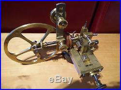 Gear wheel cutting machine watchmakers lathe with set of involute cutters