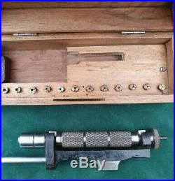 German 5mm Watchmakers Hand Lathe plus full set of collets, Watchmaking Tools