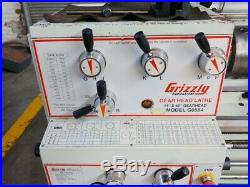 Grizzly G0554 14 X 40 Gap Bed Engine Lathe 3 Jaw Chuck Tool Posts Single Phase