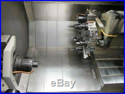 Haas CNC Lathe Twin Spindle Live Tooling Bar Feeder Chip Conveyor 3 inch Bar Cap