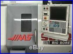 Haas SL-20 CNC lathe, 1999 Big Bore, Tailstock, Tool Setter