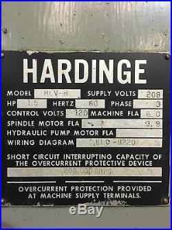 Hardinge Model HLV-H Precision Tool Room Lathe