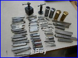 Lathe HSS and carbide cutting tools, 5C collets and tool holders