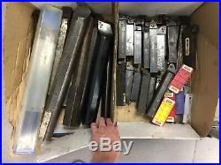 Lathe Tools Job Lot x 40 for Boring / Turning HSS / Carbide Tips & Tool Holders