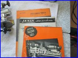 Levin Watchmaker Lathe Pedal & Kendrick Reverseable Motor Tip-Over Tool Rest