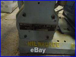 MACHINIST TOOLS LATHE MILL Machinist Millwaukee Die Filer Bench Top File Machine