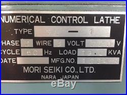 MORI SEIKI SL-1 CNC Lathe, 1982, Yasnac 2000G control, with tool holders