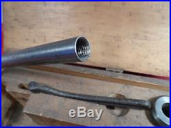 Machinist Tool 9 South Bend Collet Draw Bar Set, Collets & Original Wood Box