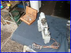 ManSon lathe, small machine co, MasterSon lathe, Man-Son lathe with box and tooling
