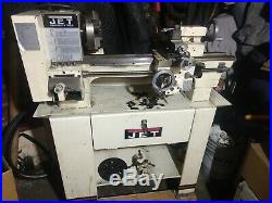 Metal working JET lathe 9 X 20 Belt Drive Bench With Cutting Tools And many