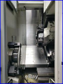 Okuma Genos L300MYW-e CNC Lathe 2018, Live Milling, Tool Presetter, Sub Spindle