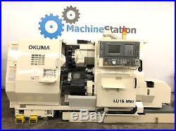 Okuma Lu-15mw Cnc Sub Spindle Live Tool Turning Center Lathe Doosan Mori