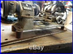 Older Unimat Small Metal Lathe With 3 Jaw Chuck And Tool Post Machinist Tool