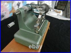 Original Rollifit Pivofix watchmakers lathe with Steiner//hahn Jacot Tool
