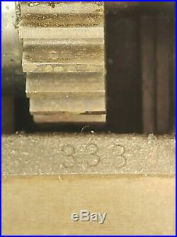 RARE Derbyshire Compound Slide Watchmakers & Jewelers Lathe RARE Cog Gear Slide