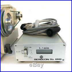Rare BERGEON Watchmaking Lathe Motor, Ref. 6800, w. Electronic Control, 2000s