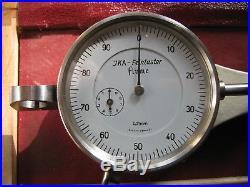 Rudolf Flume JKA precision dial gauge, watchmakers lathe, jacot tool