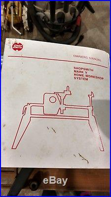 SHOPSMITH MARK V 500-Table SawithLathe/Drill Press/Disk Sander Main unit. 1984