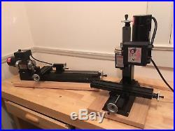 Sherline 4400B lathe and 5400A mill packages mill is new unused lathe used 1x